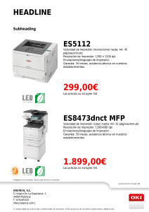 45 ppm LED Mono y 35 ppm Color MFP